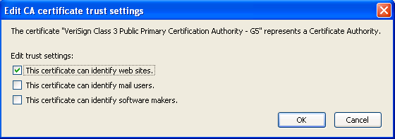 Firefox G5 CA settings
